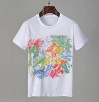 2021 티 브랜드 디자인 셔츠 여름 거리 착용 유럽 패션 남자 고품질 코튼 티셔츠 캐주얼 짧은 소매 # 001 티셔츠