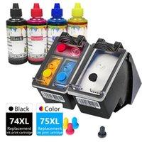 Cartuchos de tinta 74xl 75xl OfficeJet J5730 J5750 J5785 J6480 J6450 Cartucho de Impressora Substituição para Inkjet 74 75 XL