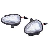 2 PCS 자동차 LED 측면 미러 램프 웅덩이 웅덩이 웅덩이 가벼운 슈퍼 밝은 흰색 램프 VW 골프 6 MK6 GTI 2008-2014 2011-2014