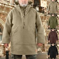 Men's Hoodies & Sweatshirts Casual Fleece Plush Winter Thickness Long Sleeves Sweatshirt Coat Man Loose Tracksuit Jacket Plus Size Sweater T
