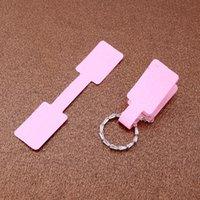 100 teile / los Weißbuchsschmuck Ringaufkleber Display Verpackungsetikett Tags 6x1.2cm Rechteck Papierkleber Aufkleber für Ringe