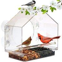 Akryl ekorreäker klart fönsterfönsterfoder med starka sugkoppar och glidande fröfack kan cvs andra fågelartiklar