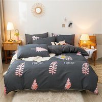Bedding Sets Bloom Cotton Printed Pillowcase Quilt Cover Bed Sheet Queen Size King Four-Piece Set