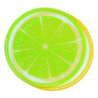 جديد جولة سيليكون الشمع dab حصيرة سيليكون dabbing حصيرة الليمون تصميم غير عصا dabber صفائح داب عشب الشمع النفط GWD6616