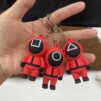 Designer keychain Brand key chain Squid game doll pendant PVC soft rubber three-dimensional Pendant