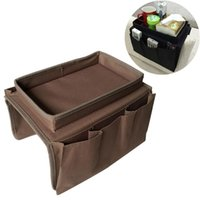 Storage Bags Sofa Armrest Organizer With 4 Pockets And Cup Holder Tray Couch Armchair Hanging Bag For TV Cellphone Magazine Drinks Sn