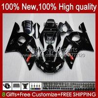 Kit Bodys para Yamaha YZF R6 R 6 98-02 YZFR6 98 99 00 01 02 Bodywork 1No.87 YZF 600 CC YZF-600 YZF-R6 YZF600 600CC 1998 1999 2000 2002 ABS CLOAL LANDEIRA PRETO