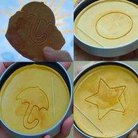 Squid gioco zucchero a nido d'ape a nido d'ape Biscuit stampo a 6 pezzi set completo Kit completo Dalgona Candy Ricetta rotonda Pentagonale Star Ombrello a forma di ombrello Triangolo