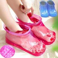 Stiefel Frauen Fuß Soak Bad Therapie Massage Schuhe Entspannung Knöchel Akupoint Sohle Portable Home Füße Pflege Wasser Zapatos Mujer