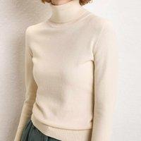 Женские свитеры Sherhure 2021 плюс размер белые трикотажные водолазки женщины тонкий подходящий верблюжий свитер и пуловеры тянуть Femme Tricot