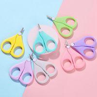 Baby Nail Scissors Curto Doméstica Diversos Miúdos Unhas Cuidadores Cuidadores Segurança Aço Inoxidável Cabeça Redonda Scissor LLE5553