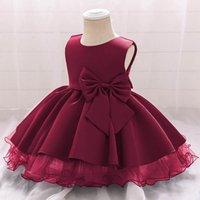 Girls Dresses 1st Birthday Dress For Baby Girl Vestiti per bambini Abbigliamento Senza maniche Gilet Principessa Summer Pizzo Tutu Pettiskirt B7244