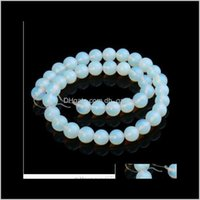 Loose Jewelryxinyao 4 6 8 10 12 14 Mm Natural Stone 40Cm Strand Round Spacer Beads Diy Jewelry Making Material F2133 Drop Delivery 2021 Filr