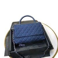 2021 Мода джинсовые женские сумки сумки сумки кошельков стеганые цепные клапаны COCO ручка 199 Топ 7А качество Крестовое тело Body Bag Schultertasche