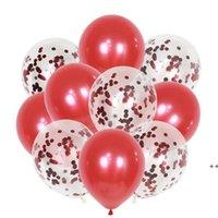 파티 풍선 장식 10 조각 골드 실버 색종이 풍선   파티에 대한 다채로운 색종이와 미리 챌린지 12 인치 라텍스 DHD9336