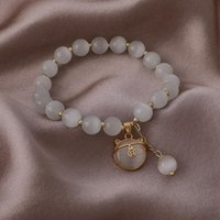 Charm Bracelets Nostalgic Design Creativity Retro Opal Girl Exquisite Simple Kitty Crystal Bracelet For Women Fashion Jewelry Accessories