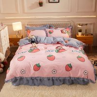 Lace Korean set bedding student three or four piece printed goods