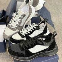 Schräg B25 Herren Trainer Sneaker Air Platform Schuhe Luxurys Designer Leder Mesh Trainer Grau Wildleder Triple Black Runner Casual Shoe