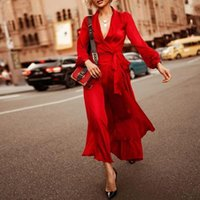 Платья повседневные GUYI Женские V-образные шеи Сексуальное платье Летние Женщины