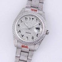 Reloj para hombre Relojes de moda mecánicos automáticos 40.6mm reloj de pulsera de acero de diamante de diamante Pulsera Pulsera Montre de Luxe Diamante completo de alta calidad