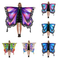 Scarves Halloween Accessory Partyprop Fairy Costume Butterfly Scarf Ladies Cape Women Cloak Wings Shawl