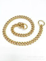 Dog Leashes Straight training copper chain pure P ring 3.0 mm button seamless welding J5LV
