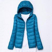 Women's Jackets Female Jacket Autumn Winter Spring Ladies Warm Duck Down Coat Hooded Lightweight Slim Style Womens Plus Size 5XL 6XL 7XL