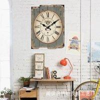 Wall Clocks Fashion Nordic Large Clock Vintage Silent Classic House Decoration Reloj De Pared Living Room BK50BG