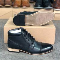 2021 Designer Martin Bottes Hommes Chaussures de cheville Occidental Cowboy Boot Zip à la face Fashion Robe Partie Chaussures de mariage avec boîte W91