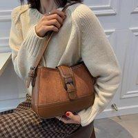 Evening Bags Vintage Designer Scrub PU Leather Women Crossbody 2021 Winter Travel Brand Trendy Shoulder Female Handbag And Purses