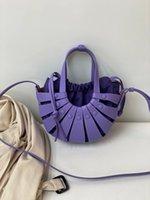 "GG""LV""Louis…Bag Vitton""YSL… Cowhide Hollow Style Same Shoulder Oblique Pull-Belt Handbag Fashion All-Match Cel Kaxr"