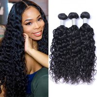Brazilian Human Hair Weave 3 4 Bundles Water Wave Wefts 100g pc Unprocessed Natural Color Non Remy Extensions 8-26 inch