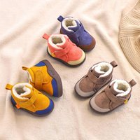 First Walkers Infant Toddler Boots Winter Baby Girls Boys Snow Warm Plush Outdoor Soft Bottom Non-Slip Children Kids Shoes