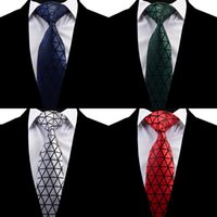 8 سنتيمتر الحرير المعين ربطة العنق أزياء تصميم رجل الأعمال الحرير العلاقات الرقبة الجاكار فراق الزفاف التعادل 3.15 بوصة