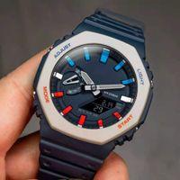 고품질 남성 시계 Quartz GA2100 시계 차가운 빛 디지털 LED 시계 남성 모든 기능을 운영 할 수 있습니다