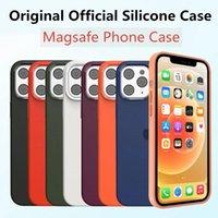 الأصلي Magsafe السائل سيليكون الحالات الهاتف مع مربع البيع بالتجزئة لفون 11 برو ماكس 12 مصغرة كاملة غطاء لينة