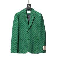 2021 Модные дизайнерские мужские костюмы Blazers Стоимость для человека Классический случайные буквы вышивка с длинным рукавом мужчины сливов Blazer Coots осень зима стенд