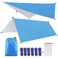 Tents And Shelters Beach Sunshade Canopy Rainproof Mat With Storage Bag Garden Tent Silver Liner Camping Sun Shelter Shade
