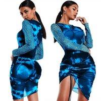 Saco Casual Womens Chiffon Dress Vestidos Moda Diversão Dos Mulheres Sexy Womens Hip Deep Ruffless Strapless V-Neck Sleeve Long # 8UB