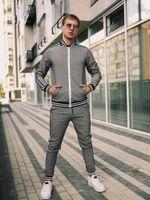 Men's Tracksuits 3D Print Suit Male Pocket Fashion Men Tracksuit Sets Mens Set Colorful Plaid Casual Zipper Stand-up Collarr Sportswear