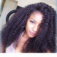 Silk Base Perruques pleines de dentelle Kinky Curly Silk Top pleine dentelle Perruques de cheveux humains pour femmes noires Perruques frontales de cheveux brésiliens