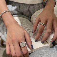 925 Sterling Sier Korean Angel Wing Moda de tejido de pie de moda Índice de alto sentido Anillo de dedo