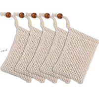 9 * 14 cm bolsa de jabón de lino de algodón Scrubbers Beam Boot Type Protección ambiental Hecho a mano Fouming NET NHA7799