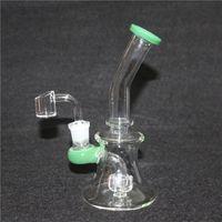 Hoodrahs de vidrio Color Downystem PERC BUBBLER Ash Catcher Peine Peine Dabber Timbre Récord Reciclador Bong Tubo de agua con una articulación de 14 mm