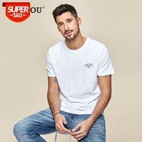 2021 Marke Herren Kurzarm T-Shirt Sommer Modernes Joker Rundkragen Gedruckt Baumwolle Männer Tshirts ZT-3346 # GE0B