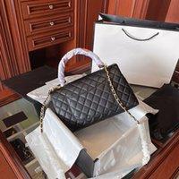 حقائب اليد تصميم الفاخرة المرأة حقيبة محفظة الكافيار سلسلة الذهب محفظة جلد الخروف crossbody مخلب أجزاء بالجملة