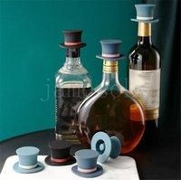 Kitchen Bar Tools Wine Stopper Creative Magic Hat Shape Silicone Wines Corks Non-slip Silica Gel Leakproof Bottle Cork Barware DD195
