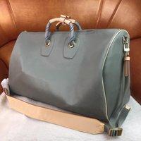 Mode Herren Duffle Bag Frauen Reise Taschen Hand Reißverschluss Gepäck Keepall Bandouliere Up Männer PU-Leder Handtaschen Große Kreuz Körpertaschen 45 50 55D76 #
