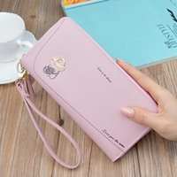 Wallets Women's Wallet Long Zip Coin Purse Fashion Mobile Phone Bag Large Capacity Leather Clutch