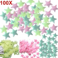 Wall Stickers 100pcs Home Decor Decals Glow Color Stars Luminous Fluorescent For Kids Nursery Rooms NW